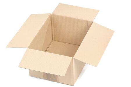 Cardboard box isolated on white background  photo