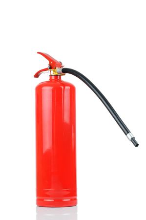 Fire extinguisher isolated on white background  photo