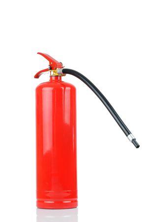 Fire extinguisher isolated on white background  photo