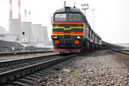 Railway in industrial area