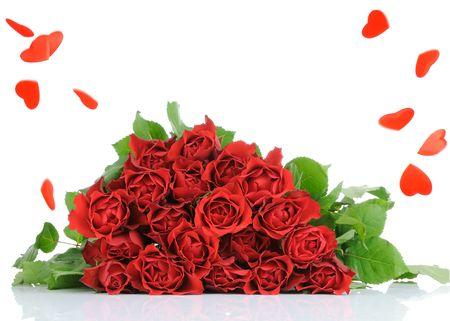 Roses bouquet isolates on white background  Stock Photo