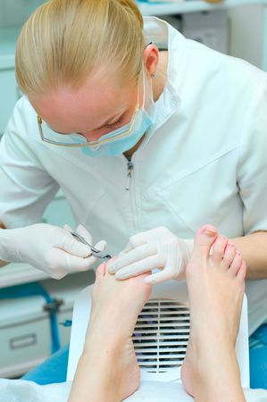 Pedicure in process  Stock Photo - 6631340
