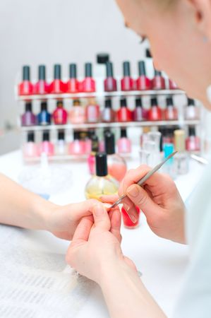 Manicure in process  Stock Photo - 6631368