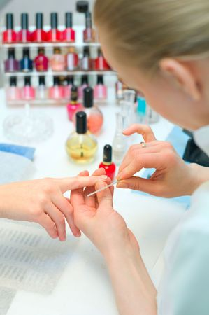 Manicure in process Stock Photo - 6631342