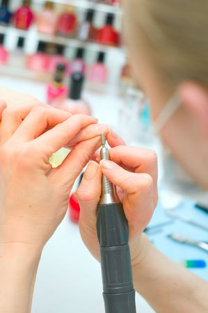 Manicure in process Stock Photo - 6631344