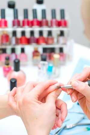Manicure in process Stock Photo - 6631355
