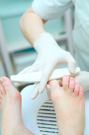 Pedicure in process Stock Photo - 6651209