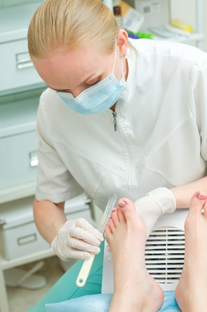 Pedicure in process Stock Photo - 7260117