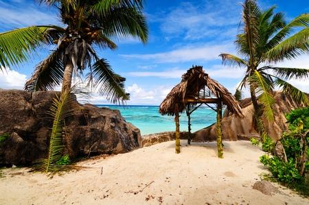 Anse Source D argent  Romantic beach, the Seychelles island photo