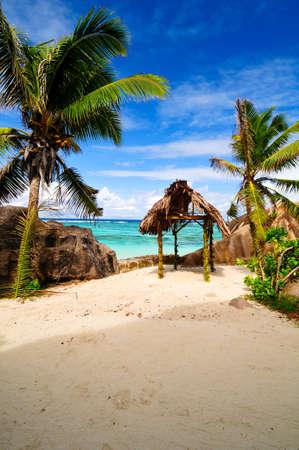 Anse Source D argent  Romantic beach, the Seychelles island Stock Photo - 17163306