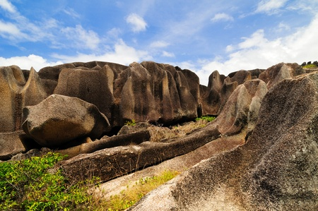 Granite rocks, view on the Seychelles photo