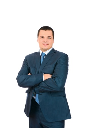 Portrait of a happy smiling business man, isolated on white background Stock Photo - 18116517