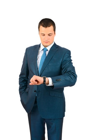 Businessman looking at his watch Stock Photo - 18161812