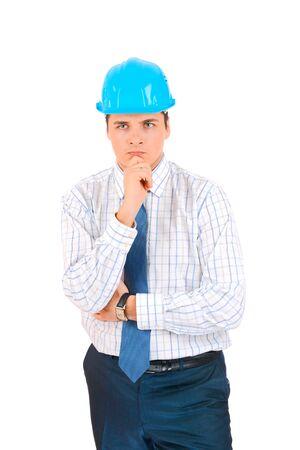 Engineer isolated on white Stock Photo - 18096628