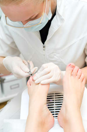 Pedicure in process  Shallow depth of field Stock Photo - 18543267