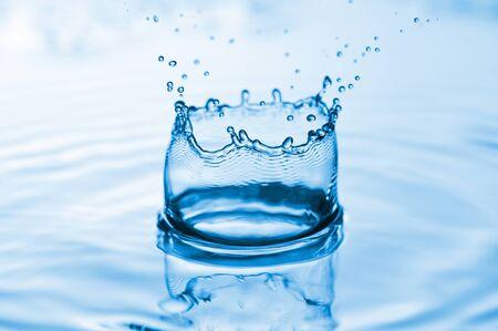 Water splash background photo
