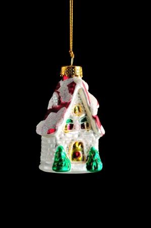Christmas decoration on black background photo