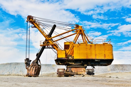 Mining industry machine - vintage excavator Stock Photo - 21587640