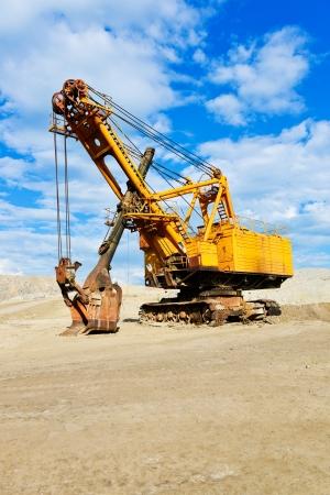 Mining industry machine - vintage excavator Stock Photo - 21587641