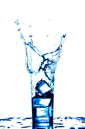 Water in the glass isolated on white background Stock Photo - 22927538