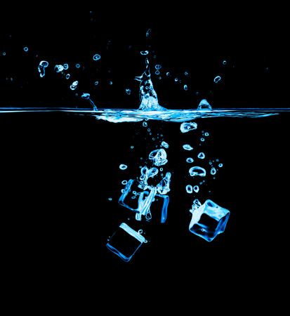 welling: Ice cubes on black