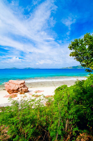 Tropical beach  The Seychelles photo