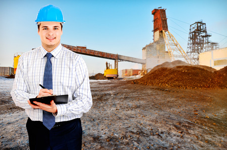 Photo of a mining engineer photo