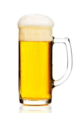 un bottled: Glass of beer