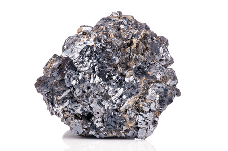 Magnetite mineral isolated on white background Stok Fotoğraf