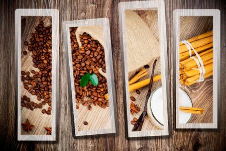 woodenrn: Coffee theme collage Stock Photo