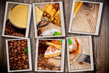 woodenrn: Coffee theme collage Stock Photo
