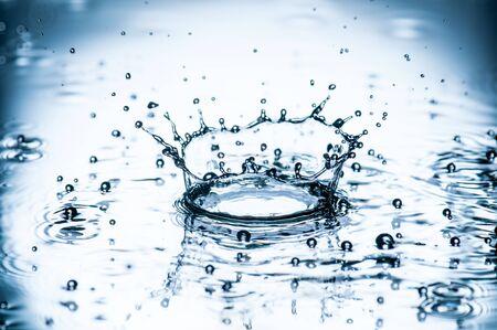 Water splashes background Stock Photo