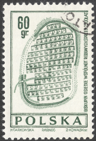 archeology: MOSCOW, RUSSIA - CIRCA JANUARY, 2016: a post stamp printed in POLAND shows archaeological artefacts, the series Archeology, circa 1966