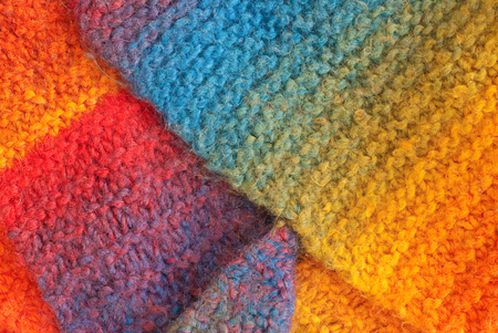colorful woolen texture photo