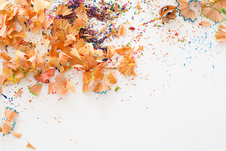sharpen: Pencil Shavings Stock Photo