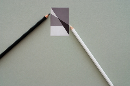 pencil on graphic background photo