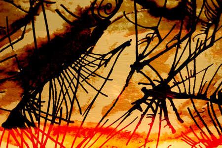 ink illustration: black ink illustration