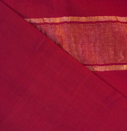 sari: sari textile - red silk with golden stripes