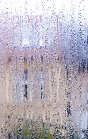 condensate: water drops on a window