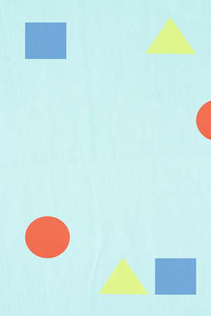 graphic shapes printed on linen textile