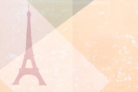 paris vintage: París - Torre Eiffel - silueta de papel