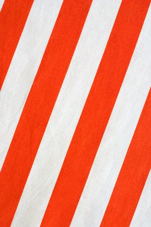 red stripes on white linen