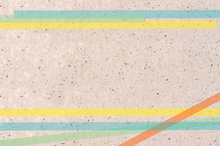 stripes on linen texture Stock Photo