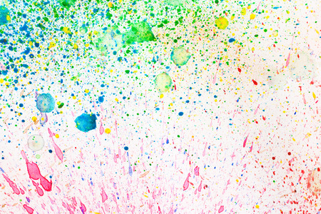 color image: colorful splash - Watercolors on paper background