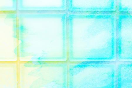 glass block: tildes glass block wall - background design Stock Photo