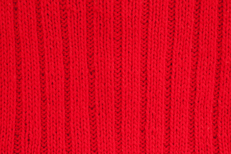 woolen: woolen scarf - close up of red textile Stock Photo