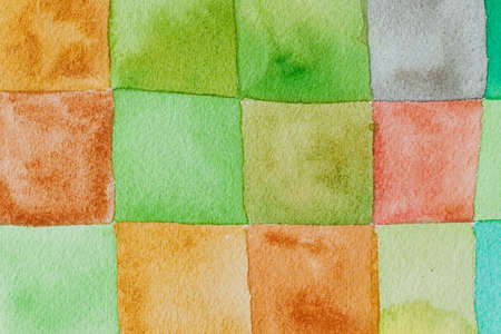 surface: colourful green watercolors on textured paper surface