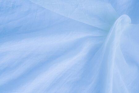 soft textile: close up of cotton surface - blue soft textile Stock Photo