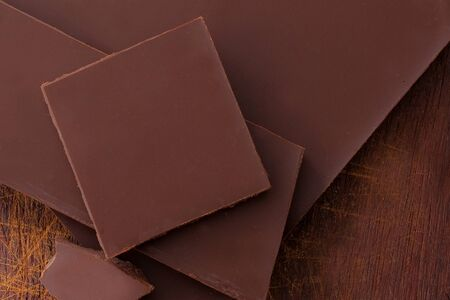 aphrodisiac: close up of chocolate from above - studio shot Stock Photo