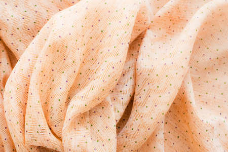 ethnical: yellow wrinkled silk textile